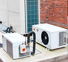Ductless Heat Pump outside building