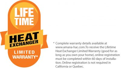 Live Time Heat Exchanger Limited Warranty