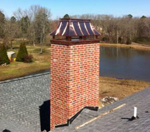 Chimney Cap made by the Sheet Metal Company in Conway, AR